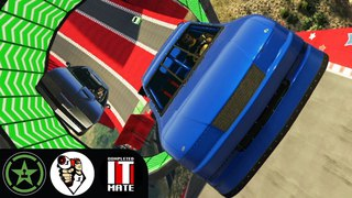 Let's Play - GTA V - Buckley Races with James Buckley and Lazarbeam