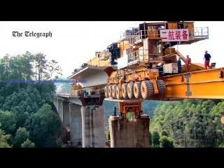 Китайская мостостроительная машина SLJ900/32 весом 580 тонн, выпущенная фирмой Beijing Wowjoint Machinery