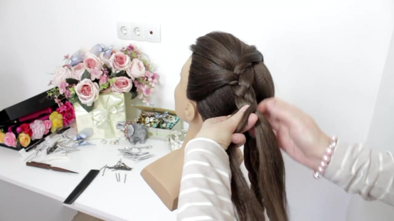 Simple Updo. Easy Bridal Hairstyle For Long Hair Tutorial