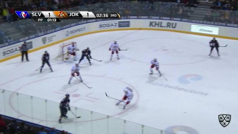 Моменты из матчей КХЛ сезона 17 18 • Гол 2 1 Джонатан Чичу Слован вывел хозяев вперёд реализовав большинство 15 11