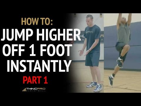How To Dunk off of ONE LEG - Instantly Jump Higher PART ONE (Last Three Steps of Vertical Jump)