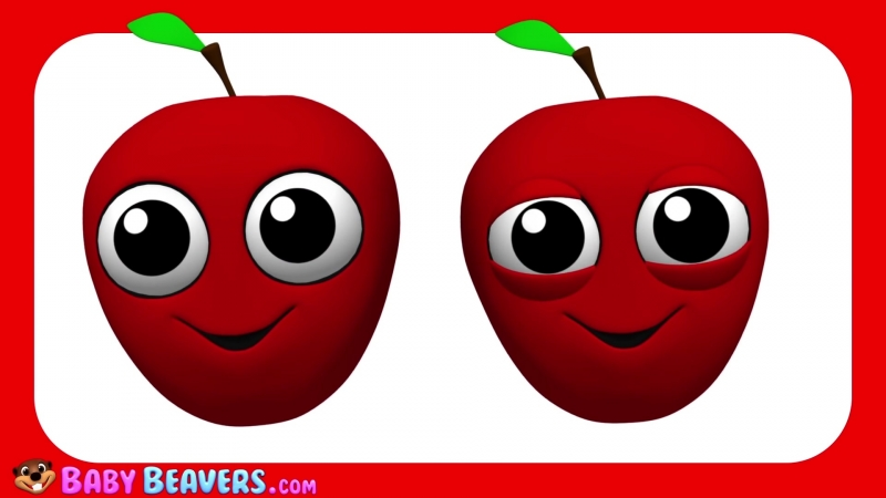 """""""Apples Are Yummy"""" ¦ Fruit Vegetable Song for Kids ¦ Learn Food ¦ Catchy Tune ¦ 3D Video"""