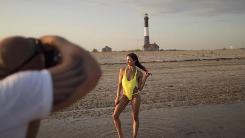 On location w Photographer Justin Bellucci for Lila Nikole Swim - Feat Model Christina Ionno