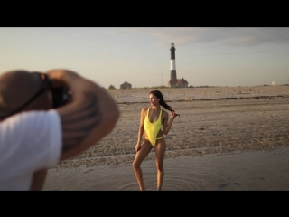 On location w Photographer Justin Bellucci for Lila Nikole Swim - Feat Model Christina Ionno