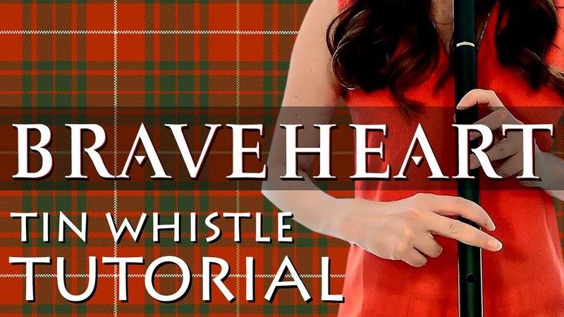 BRAVEHEART Theme Tune TUTORIAL - Tin Whistle, Low D Whistle Tabs