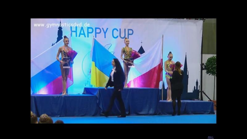Церемония награждения юниоров в многоборье - Happy Cup Ghent 2017