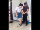 Husband helps amputee wife