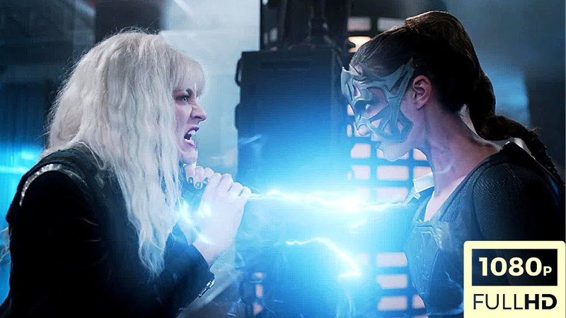 Supergirl 3x11 Supergirl/Livewire/Saturn Girl and Psi Vs Reign Fight Scene Full HD[1080p]