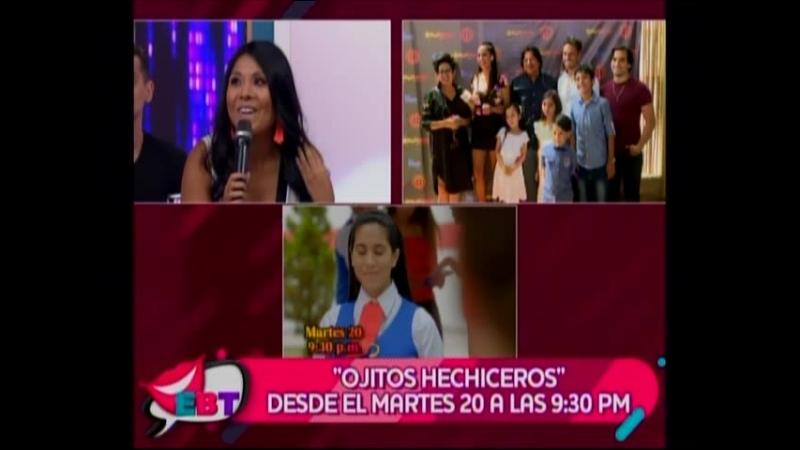 Nikko Ponce Junto al Elenco de Ojitos Hechizeros en En Boca de Todos