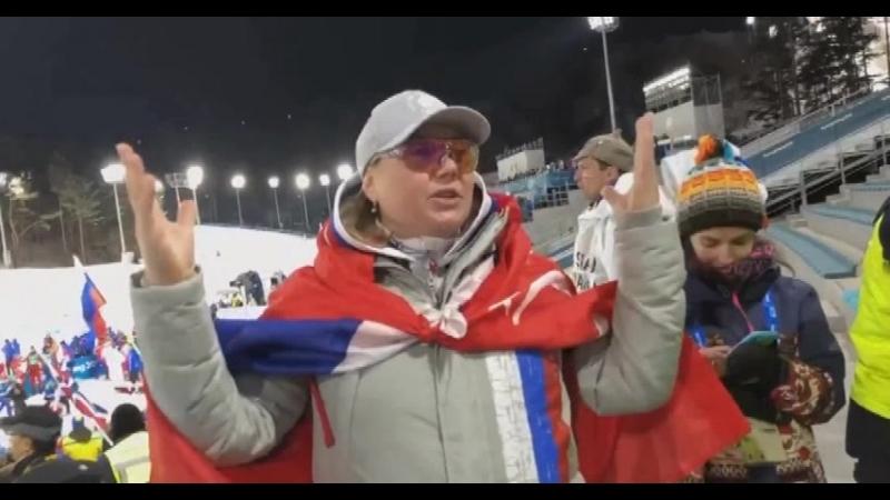 Света Гладышева с советским флагом на плечах рулит в Корее!