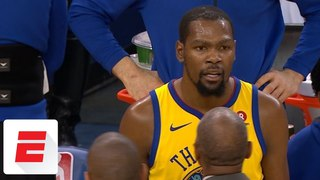 Kevin Durant controversially gets ejected in first half vs. Bucks | ESPN