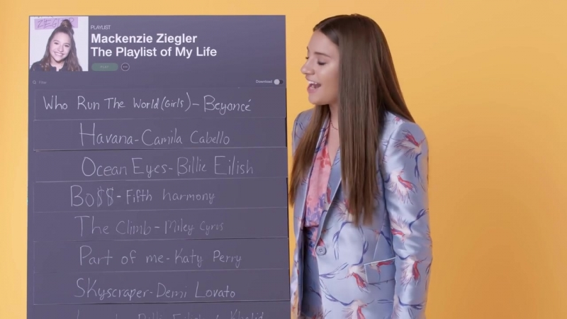 Mackenzie Ziegler Creates the Playlist to Her Life _ Teen Vogue