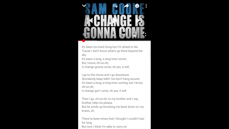 """""""Change gonna come"""" vocal cover(only voice)"""
