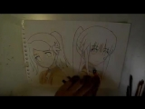 Как нарисовать Ako & Riko из Kiss X Sis _バランスKISS_ ( 360 X 640 ).mp4