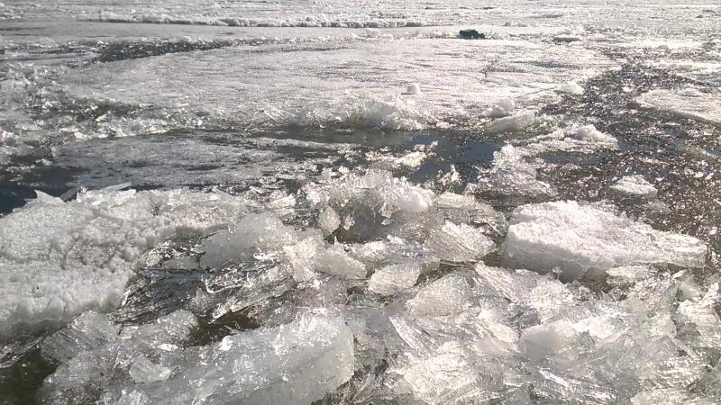 Лёд тронулся ( набережная Комсомольского района)