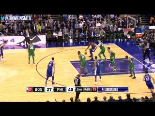 Ben Simmons & Joel Embiid 31 Pts Combined 2018.01.11 vs Celtics - 16 Pts, 2 Blks For Ben!.mp4