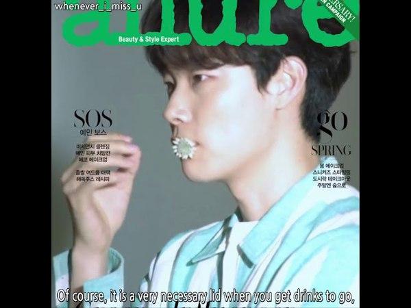 Ryu Junyeol's процесс фотосессии для журнала Allure 04/2018