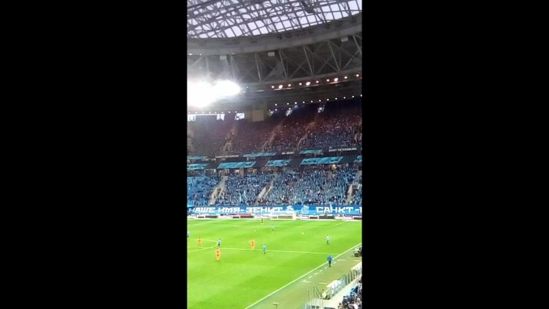 Потрясающие фанаты Зенита на матче, Зенит арена, 2 декабря