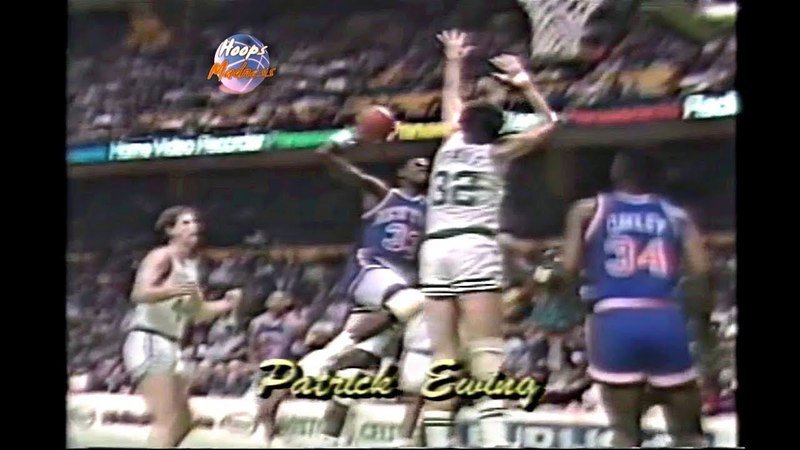 Patrick Ewing Monster Dunk on Kevin McHale!! (Rare)
