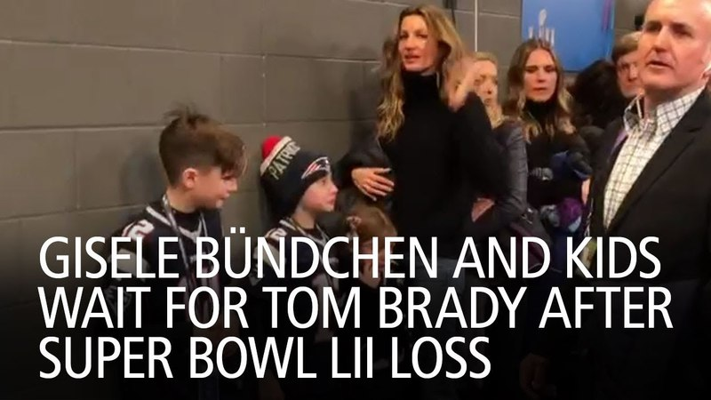 Gisele Bündchen and Kids Wait for Tom Brady After Super Bowl LII Loss