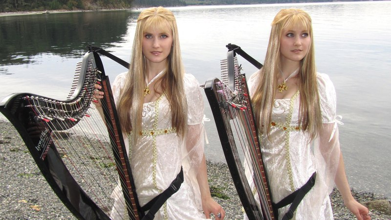 INTO THE WEST (Lord of the Rings) Harp Twins - Camille and Kennerly
