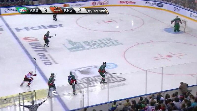Моменты из матчей КХЛ сезона 1718 • Опасный момент. Ландер Антон (Ак Барс) один в один вышел 24.08
