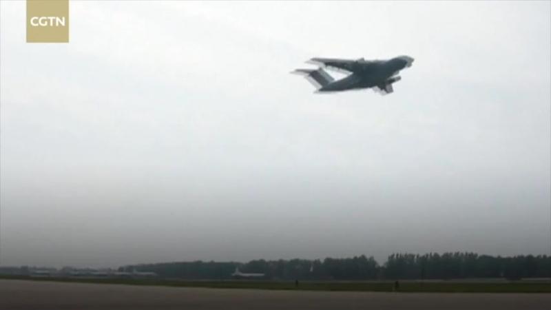 Воздушно-десантные войска НОАК впервые отработали десантирование с тяжелого военно-транспортного самолета Юнь-20