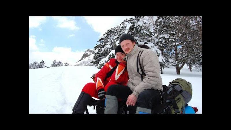 Поход на Демерджи в снегу. Очень много снега! Крым, март 2012