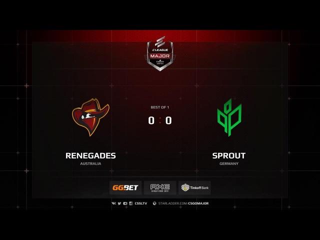 Renegades vs Sprout @ de cbble