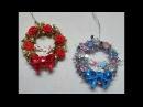 DIY~ Beautiful Inexpensive Dollar Tree Mini Garland Ornament Wreaths!