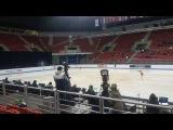 Junior Worlds 2018 Ladies SP group 7 warm-up Trusova, Ma, Lin, Ing, Kostornaia, Flood
