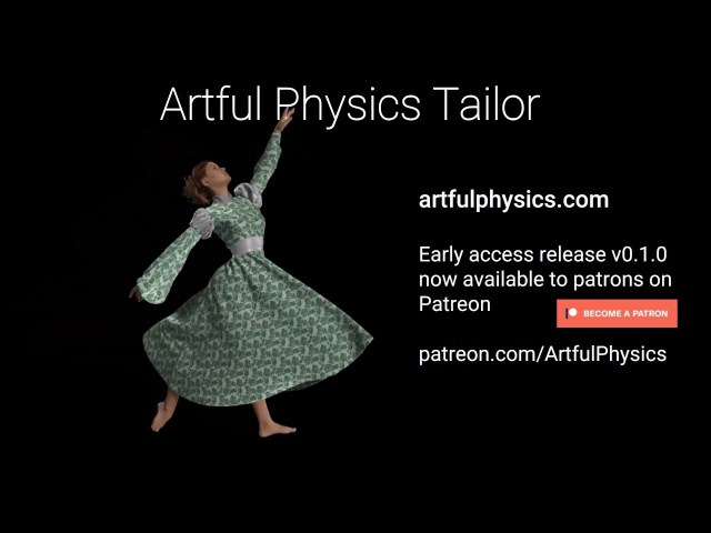 Artful Physics Tailor - Early Access Launch