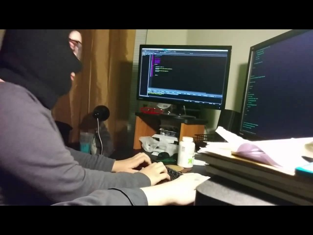Hacker keyboard balaclava