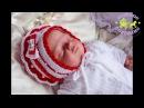 Шапочка и пинетки. Комплект для новорожденной девочкисладкая ягодка