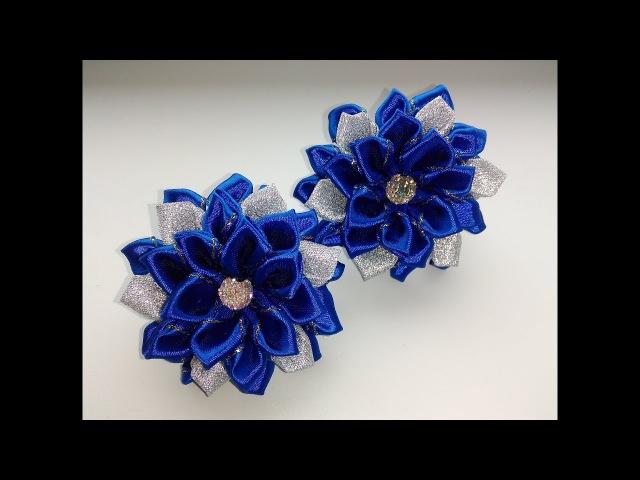 Бантики Канзаши из лент 2,5 см Мастер Класс/Bows Kanzashi ribbon 2.5 cm Master Class