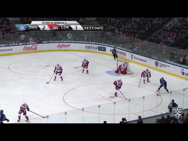 Моменты из матчей КХЛ сезона 16/17 • Гол. 3:1. Евгений Ковыршин (Динамо) восстановил преимущество в две шайбы 27.02