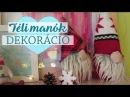 Szakállas téli manócskák ünnepi dekoráció DIY