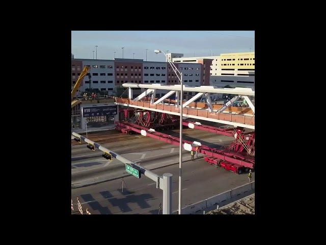 FIU Florida Miami Bridge Time Lapse Construction Finish Before Collapse