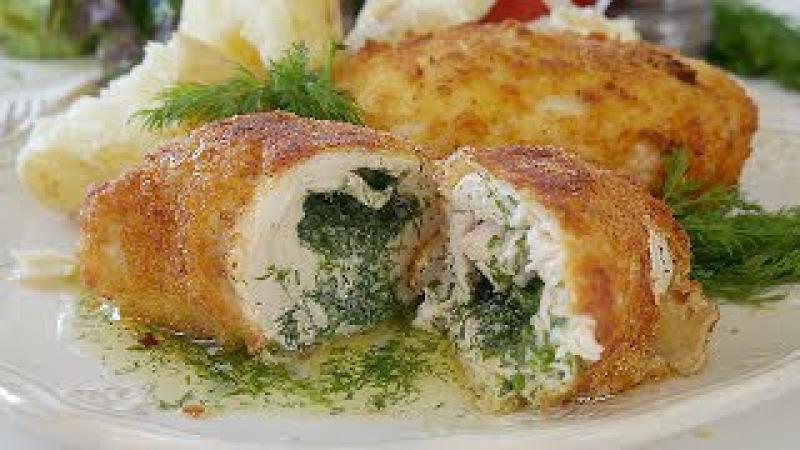 Котлета по-киевски вкусный рецепт. Chicken Kiev recipe 👍