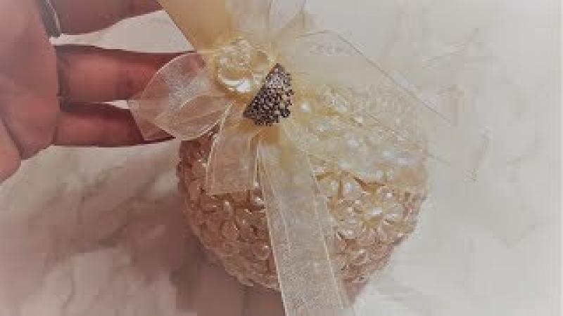 Жемчужный шар для свадебных колец обручение ✔ Marine DIY Guloyan✔
