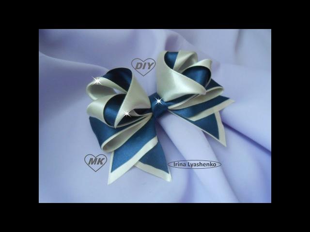 Бант 3D из атласной ленты МК DIY 3D bow of ribbon PAP Arco de fita 3d Tutorial