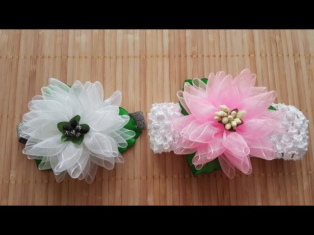 Air Flower Organza DIY Kanzashi Blumen aus Organza Cvijet od Organze