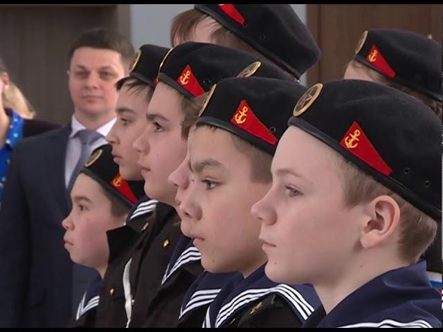 Учащиеся уфимского лицея №161 приняли присягу и получили удостоверения кадетов морской пехоты