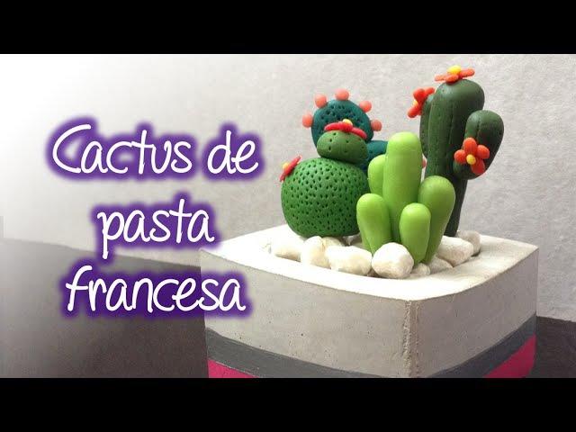 Cactus decorativos de pasta francesa