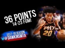 Josh Jackson Full Highlights 2018 3 17 Phoenix Suns vs GSW 36 Pts FreeDawkins