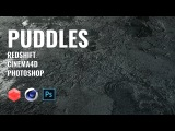 Create Puddle using Photoshop &amp Redshift for C4D