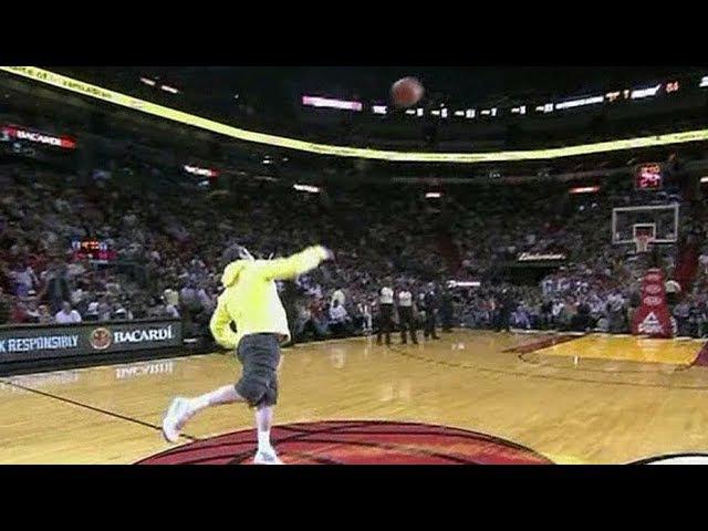 Fans Making Half Court Shots For MoneyCars Compilation