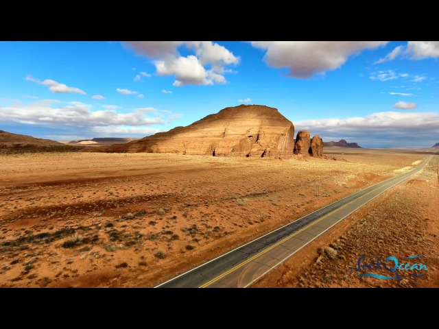 Phantom 4 Pro Monument Valley Utah Arizona Landscape 4K Drone Flight 2017
