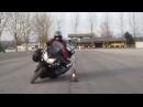 Loaded V-Strom - Slalom, U-Turns, Figure 8