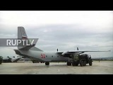 Syria Russian humanitarian aid lands at Khmeimim airbase for New Year